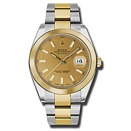 Rolex Two-Tone DateJust II 126303 CHIO Yellow Gold Champaign Index Dial Watch