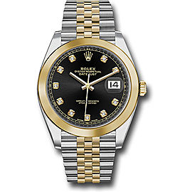Rolex Oyster Perpetual Datejust 126303 BKDJ Stainless Steel and 18K Yellow Gold 41mm Mens Watch