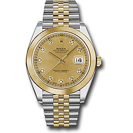 Rolex Oyster Perpetual Datejust 126303 CHDJ Stainless Steel and 18K Yellow Gold 41mm Mens Watch