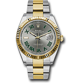 Rolex Oyster Perpetual Datejust Stainless Steel & 18K Yellow Gold 41mm Mens Watch