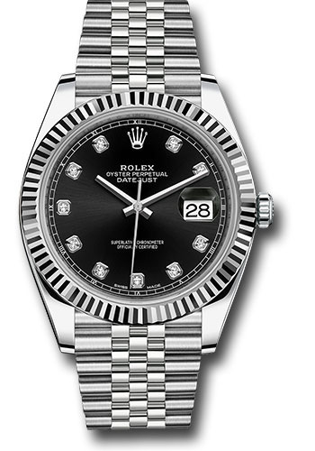 """Image of """"Rolex Oyster Perpetual Datejust 126334 Bkdj Stainless Steel 41mm Mens"""""""