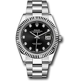 Rolex Oyster Perpetual Datejust 126334 BKDO Stainless Steel 41mm Mens Watch