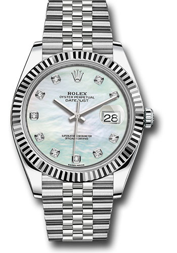 """Image of """"Rolex Oyster Perpetual Datejust 126334 Wmdj Stainless Steel 41mm Mens"""""""