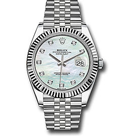 Rolex Oyster Perpetual Datejust 126334 WMDJ Stainless Steel 41mm Mens Watch