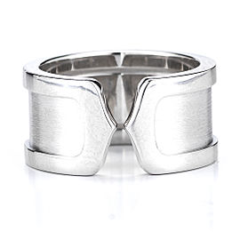 Cartier Double C Wedding Band 18K White Gold