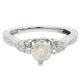 14KT White Gold Diamond unity ring