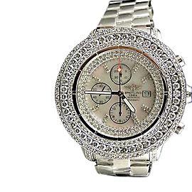 Breitling Super Avenger 3 Row Diamond Watch 23 Ct Mens Watch