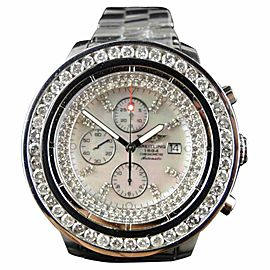 Breitling Mens Super Avenger 1 Row Big 51 Mm Diamond 9 Ct Watch