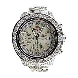 Breitling Super Avenger Full 32 Ct Diamond Mens Watch