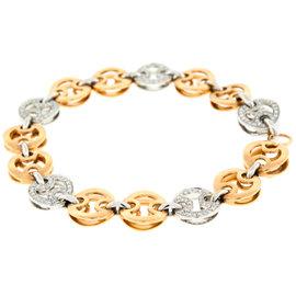 Roberto Coin 18K White Rose Gold Diamond Bracelet