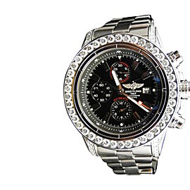Breitling Super Avenger Aeromarine Genuine 10 Ct Diamond Mens 53 MM Watch