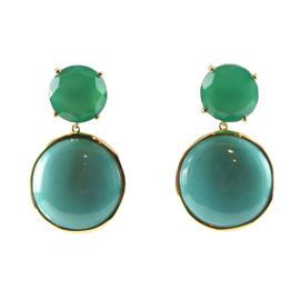 Ippolita 18K Yellow Gold Modern Rock Candy Turquoise Drop Earrings