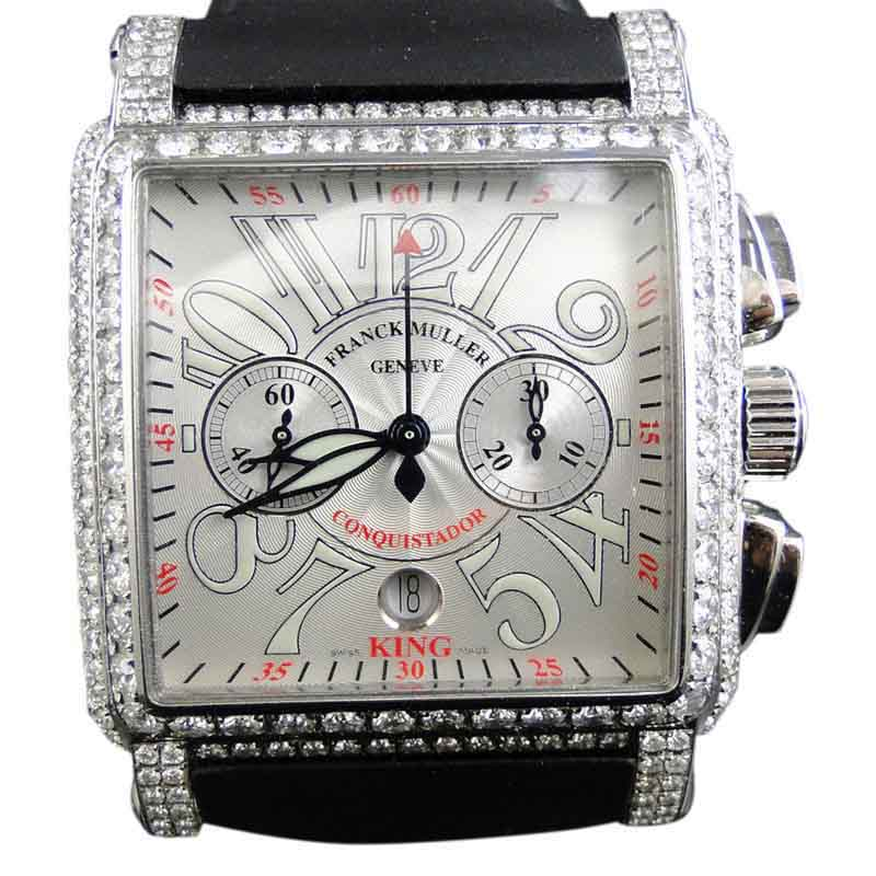 "Image of ""Franck Muller 16.65 Ct King Conquistador Cortez Iced Out Diamond Mens"""