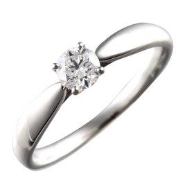 Tiffany & Co. 950 Platinum 1P Diamond Harmony Solitaire Ring Size 5.25