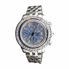 Breitling Custom Mens Windrider Evolution A13356 45 mm Diamond Watch