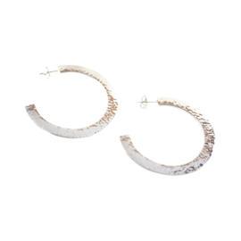 Ippolita Sterling Silver Roma Links Large Crinkle Half Hoop Earrings