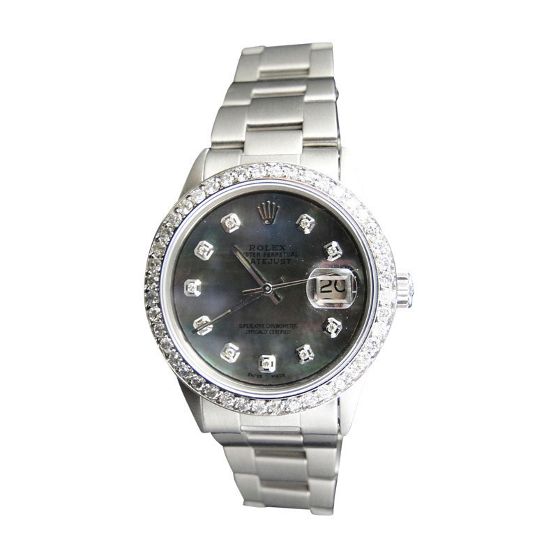 "Image of ""Rolex Datejust Oyster Stainless Steel Diamond with 2.15 Ct Mens Watch"""