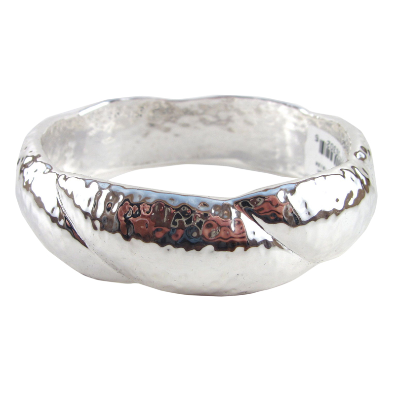 "Image of ""Ippolita Large Sterling Silver Glamazon Wide Twisted Bangle Bracelet"""
