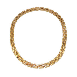 Cartier Maillon Panthere 18K Yellow Gold Diamond Necklace