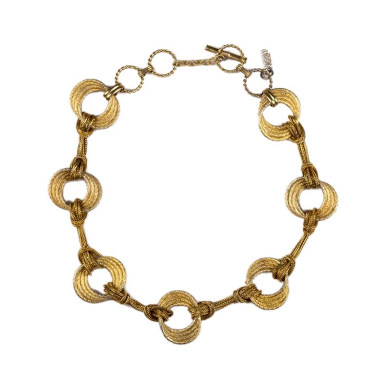 "Image of ""YSL Yves Saint Laurent Unique Chain Necklace"""