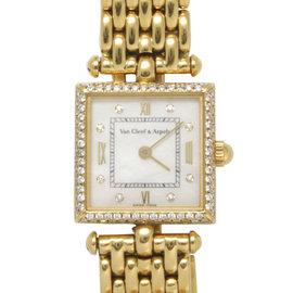 Van Cleef & Arpels Pierre 136942 Arpels 17mm18K Yellow Gold Diamond Watch