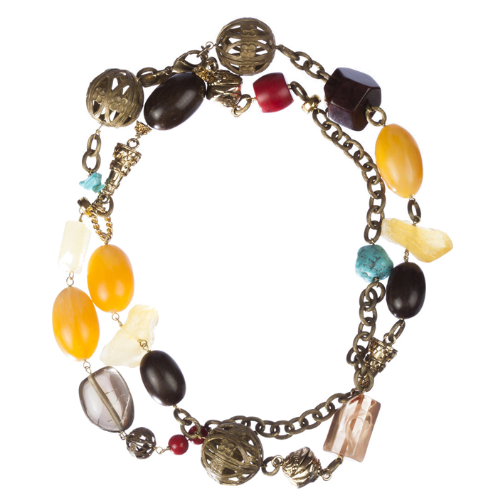 "Image of ""Dolce and Gabbana Multi-Color Bead Necklace"""