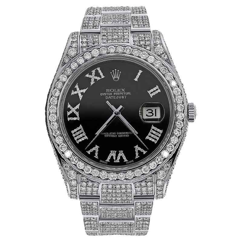 "Image of ""Rolex Datejust II 116300 Stainless Steel Black Diamond Dial 41mm Watch"""