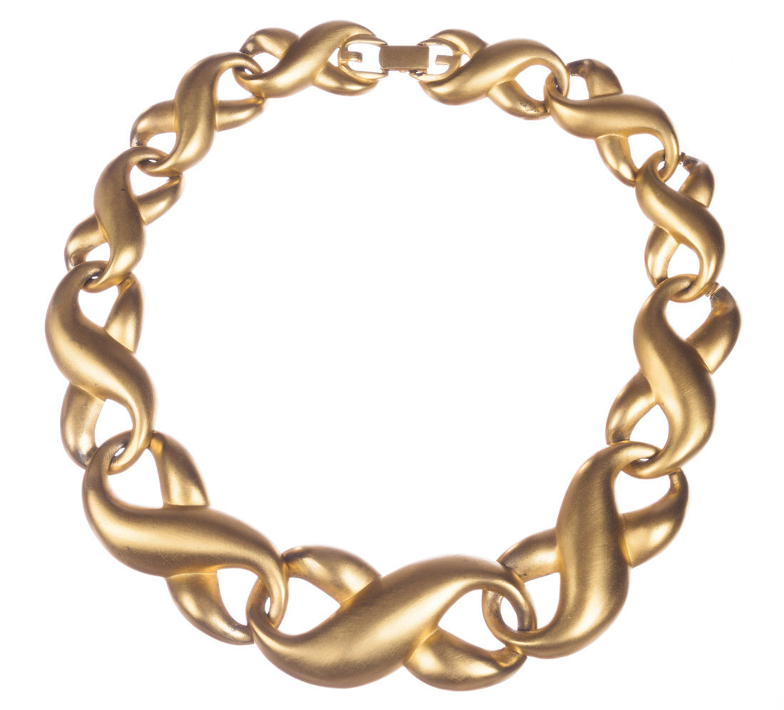 "Image of ""Givenchy Figure Eight Eternity Love Knot Necklace"""