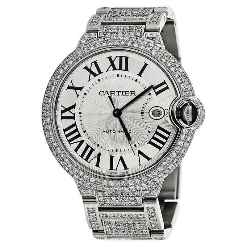 Cartier Ballon Bleu 42mm W69012Z4 Automatic Diamond Watch