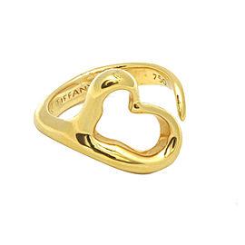 Tiffany & Co. 18K Yellow Gold Elsa Peretti Heart Ring