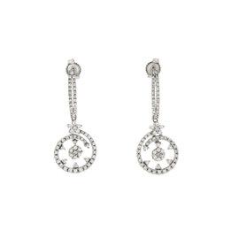 Roberto Coin 18K White Gold Diamonds Earrings
