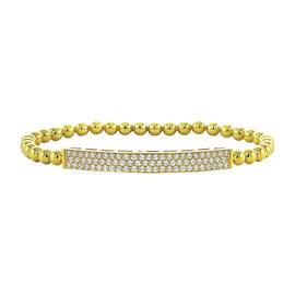 14K Yellow Gold & 2.50 ct Diamond Pave Bar Tennis Bracelet