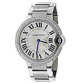 Cartier Ballon Bleu de W69011Z4 Stainless Steel 37mm Unisex Watch