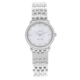 Omega DeVille 413.15.27.60.55.001 Stainless Steel & Diamonds Quartz Ladies Watch