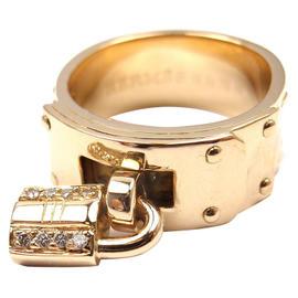 Hermes 18K Yellow Gold Diamond
