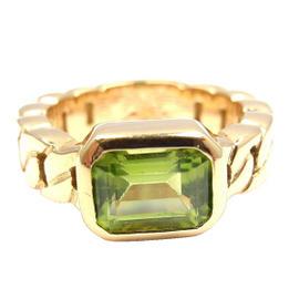 Chanel 18K Yellow Gold Peridot Ring