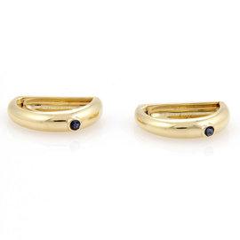 Cartier 18K Yellow Gold Sapphire Cufflinks