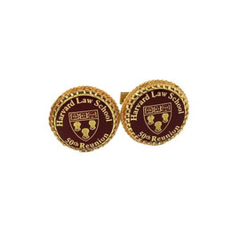 Vintage 14k Yellow Gold Harvard Law School 50th Reunion Cufflinks