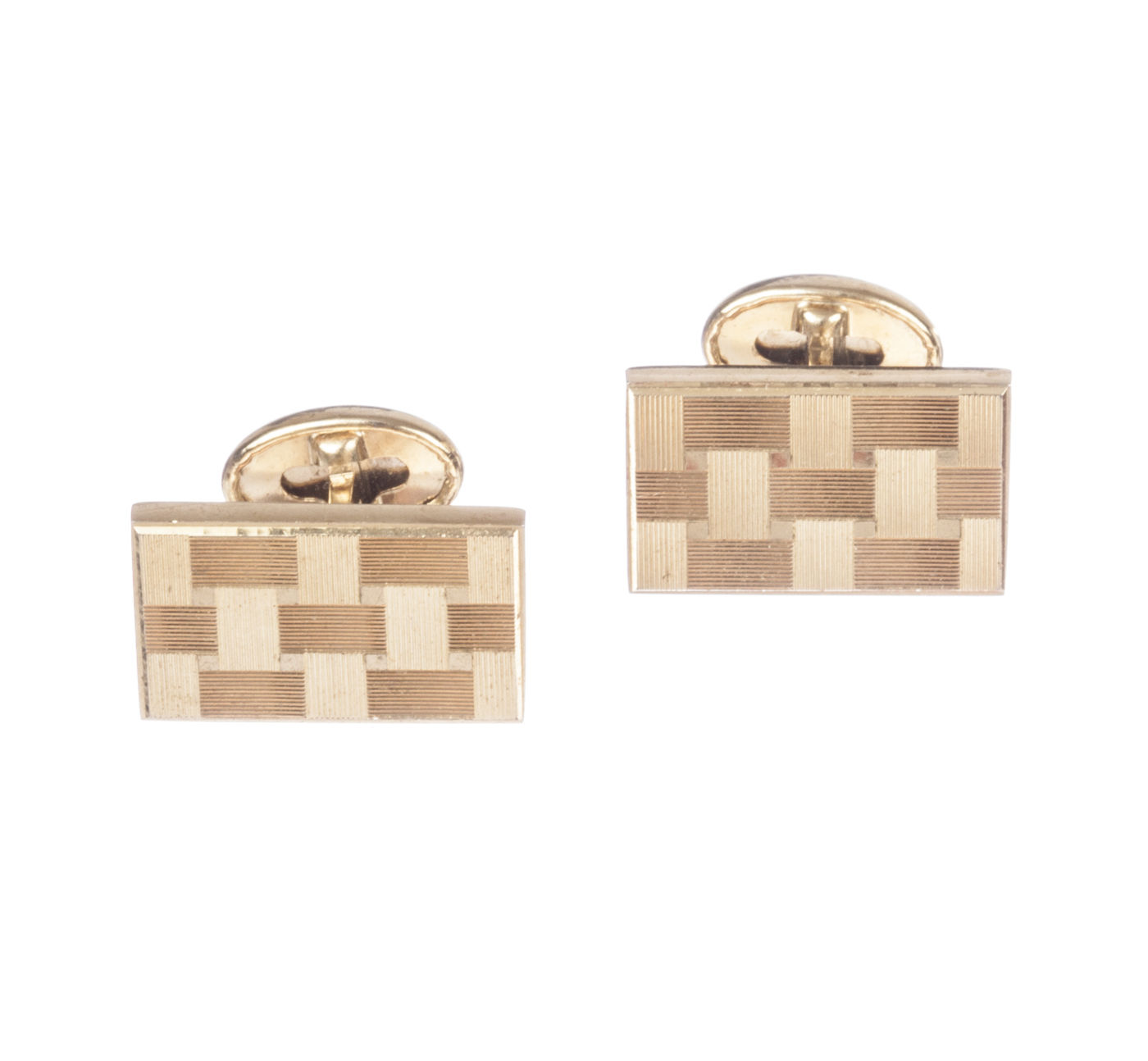 "Image of ""Pierre Cardin Woven Rectangular Cufflinks"""