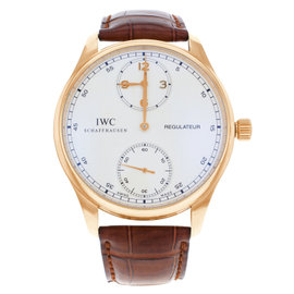 IWC Portuguese Regulateur IW544402 18K Rose Gold Manual Wind Mens Watch