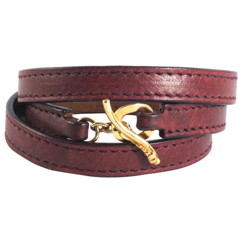 "Image of ""Ippolita 18K Yellow Gold Leather Wrap Bracelet"""