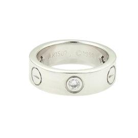 Cartier Love Ring White Gold 3-Diamond Size 4