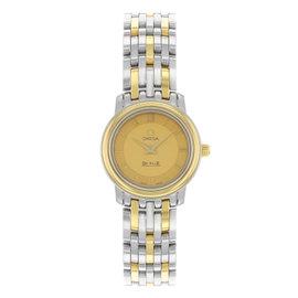 Omega De Ville Prestige 4370.12.00 Steel & 18K Yellow Gold Quartz Ladies Watch