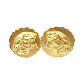 Vintage Van Cleef & Arpels VCA 18K Yellow Gold Panther Cufflinks