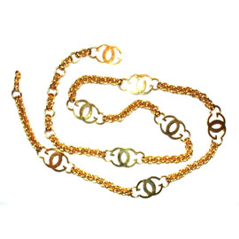 Gucci 18k Gold Plated Monogram Chain Necklace