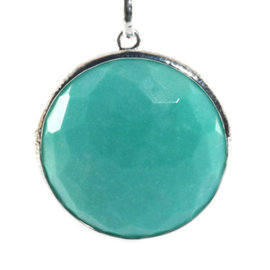 Ippolita Sterling Silver Turquoise Large Rock Candy Circle Pendant