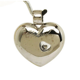 Chopard 18K White Gold Happy Diamond Heart Pendant
