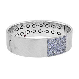 Roberto Coin 18K White Gold Blue Sapphire Bracelet