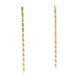 Louis Vuitton 18K Yellow Gold Bar Links Long Drop Dangle Earrings