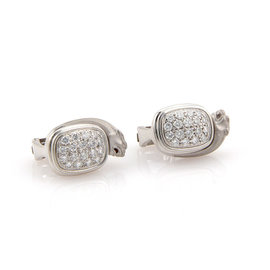 Carrera y Carrera 18K White Gold Pave Diamond Panther Earrings